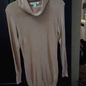 Forever21 Tan Cowl Sweater Dress S/P